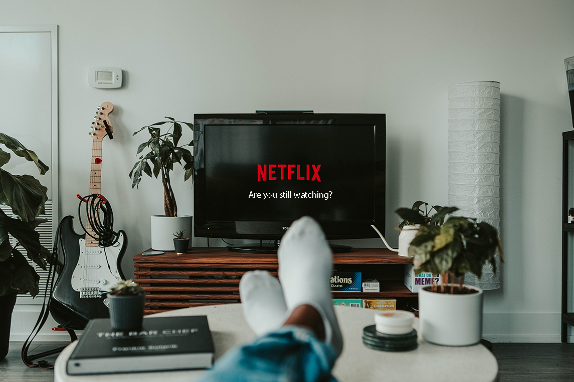 netflix on the screen with the message are you still watching?
